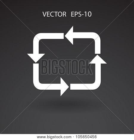 Flat icon of cyclic