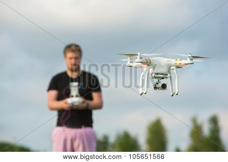 Adult Using Camera Drone
