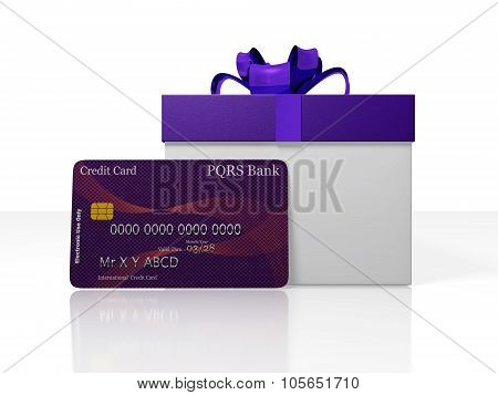 Credit Card And Gift Box