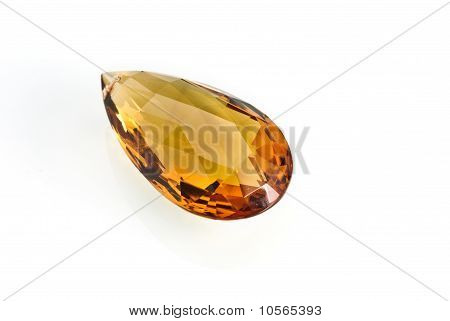 Citrin isolated on a white background