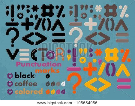 Vector punctuation marks