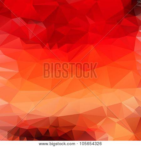 Light orange red abstract polygonal background. Raster mosaik