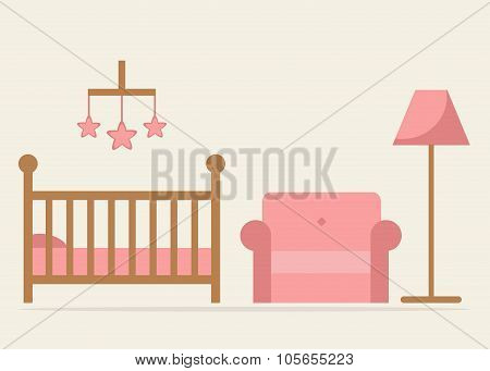 Baby room interior design.
