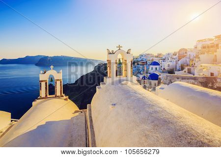Santorini, Greece - Oia village, typical view