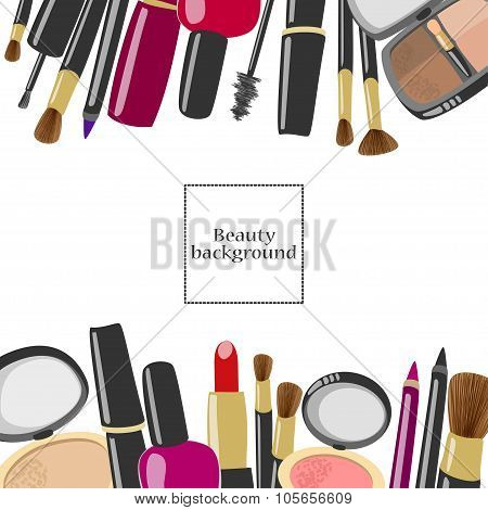 Makeup  And Beauty Product Background