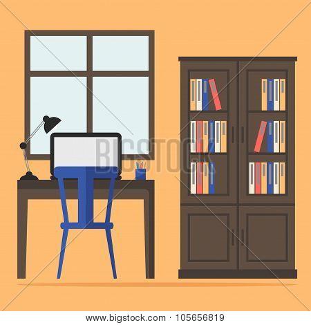Contemporary home office interior.