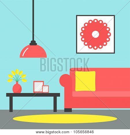 Living room. Contemporary living room interior.