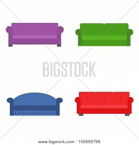Sofa set. Modern and classic couch set.