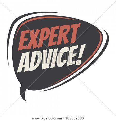 expert advice retro speech bubble