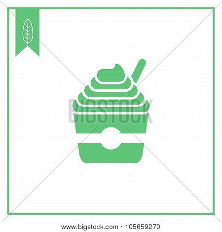 Ice cream in bucket