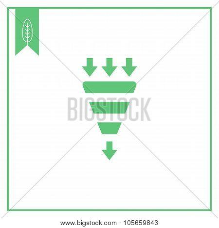 Integration sign icon