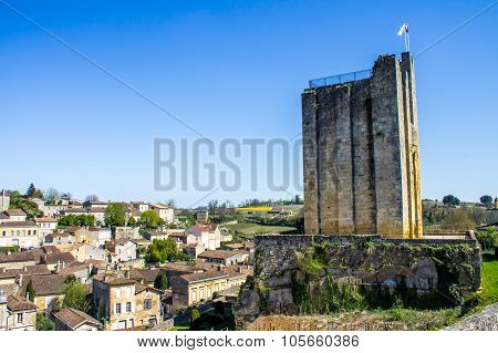 Saint Emilion With The King's Tower, Near Bordeaux, France