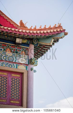 The High beautiful traditional Chinese pavilion.