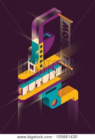 Futuristic abstraction. Vector illustration.