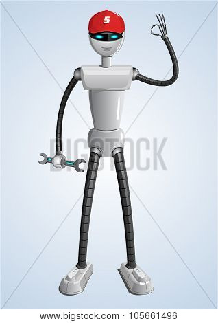 Robot in vector.