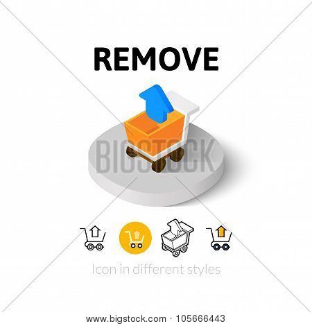 Remove icon in different style
