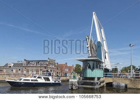 Netherlands - Ijlst - Media August, 2015: Drawbridge In The Center Of Ijlst.