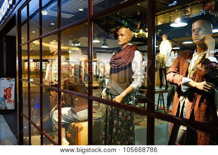 SHENZHEN, CHINA - OCTOBER 13, 2015: shopping store interior. Shenzhen excellent shopping choices and offers tourists great shopping opportunities.