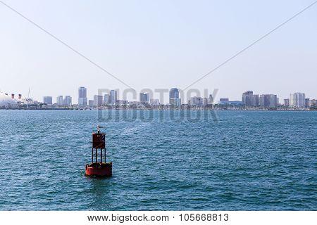 Buoy And Skyline