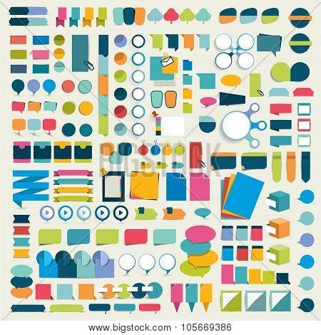 Mega Set Infographic Design Elements.