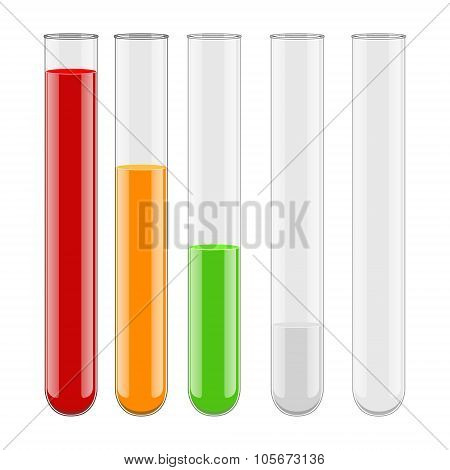 Medical chemistry vial test-tube vector