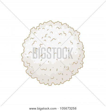 White blood cell leukocyte vector illustration