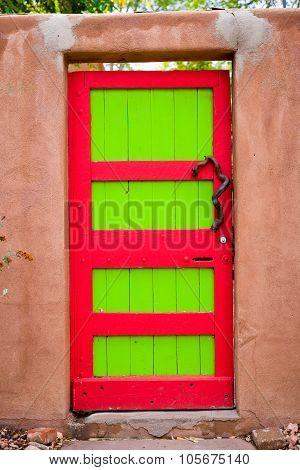 Colorful Santa Fe Gallery Door