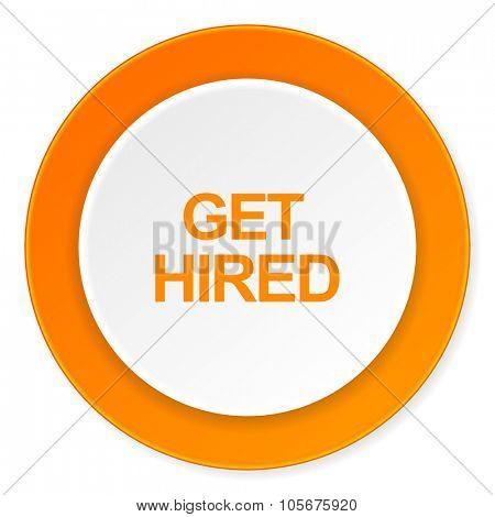 get higreen orange circle 3d modern design flat icon on white background