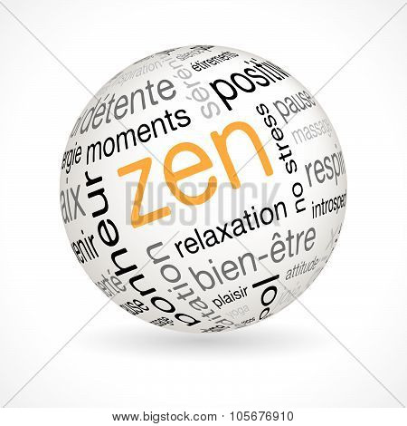 French Zen Theme Sphere With Keywords