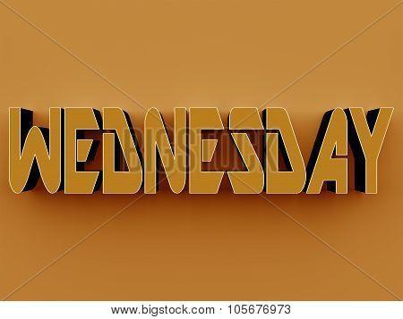 3D Text - Wednesday