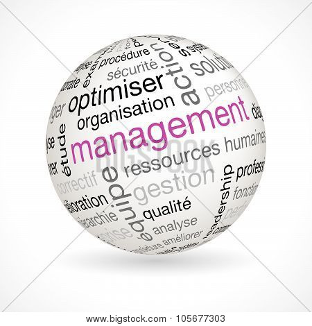 French Management Sphere With Keywords