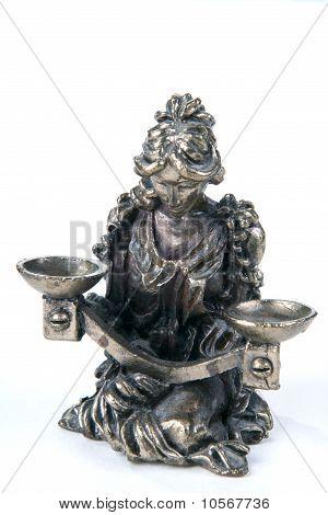 metal figure of Zodiac Libra