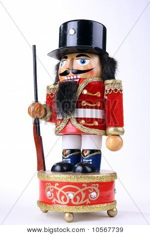 wooden nutcracker with a rifle