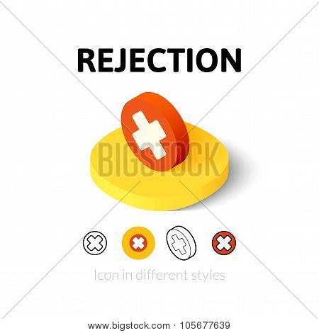 Rejection icon in different style