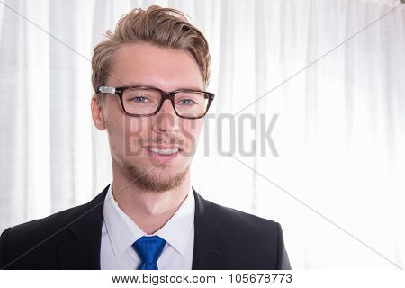 Smart Young Business Man In Suit And Tie