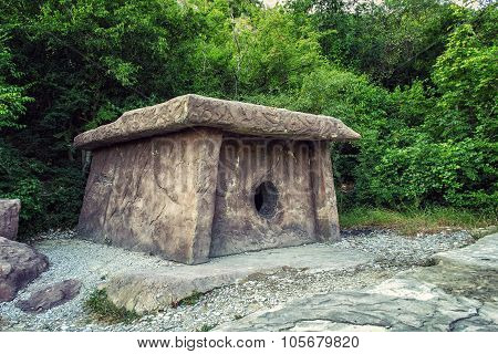 ancient dolmen in the forest
