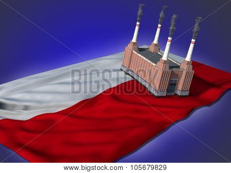 national heavy industry concept - Polish theme