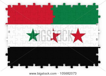 Syrian And Syrian Opposition Concept Image - Flags Of Syria And The Syrian Opposition Jigsaw Puzzle