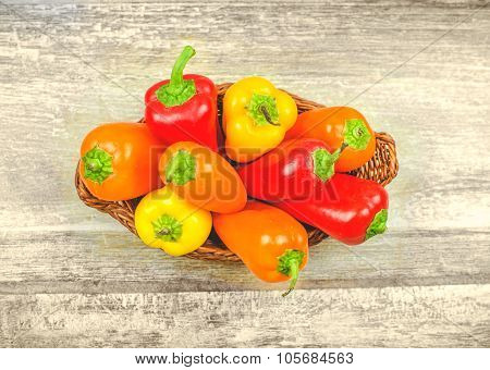 Capsicum Basket Background