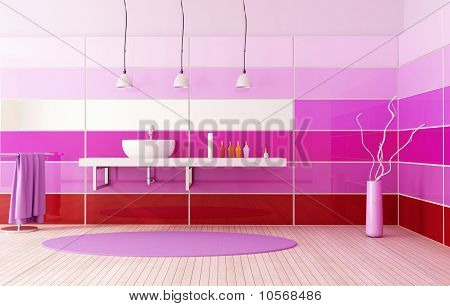 Bright Colored Bath