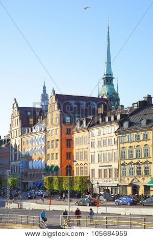 STOCKHOLM, SWEDEN - May 21, 2015: View of Old Town (Gamla Stan) in Stockholm