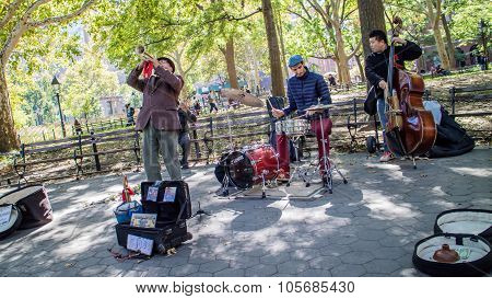 Musicians At Washington Square Garden