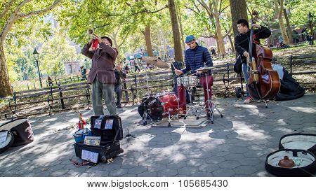 Musicians At Washington Square Garden
