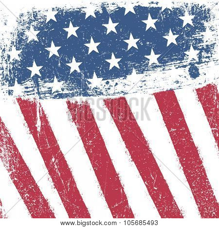 American patriotic grunge background