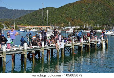 Annual Picton Childrens' Fishing Competition, New Zealand