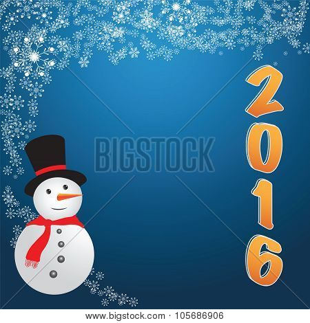 Abstract Christmas On Blue Background. Vector Illustration.