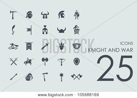 Set of knight and war icons