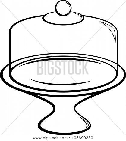 cake stand and plate with glass dome