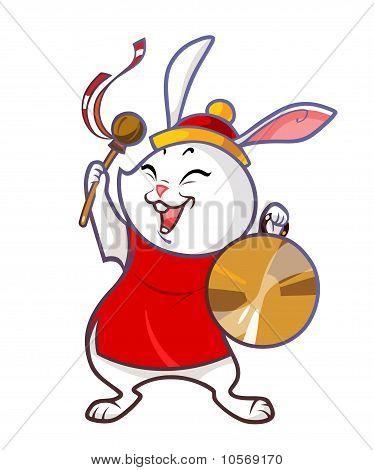 Cartoon chinese rabbit