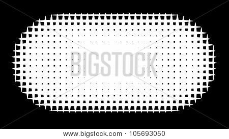 Grid Pill Shape In Graphical Black And White Hatch